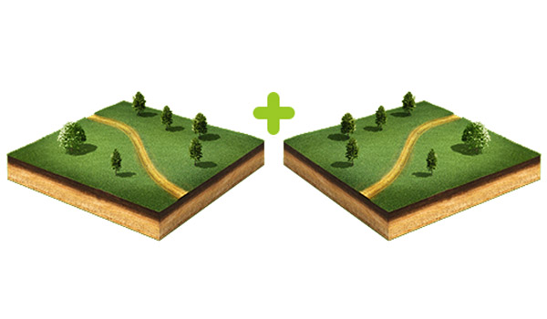 Объединение земельного участка